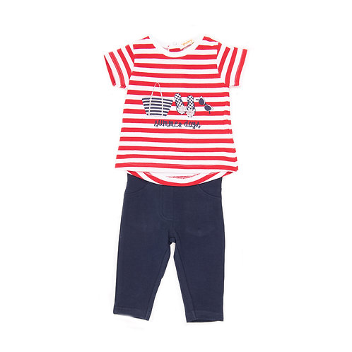 Babybol - Navy & Red 2 Piece Set