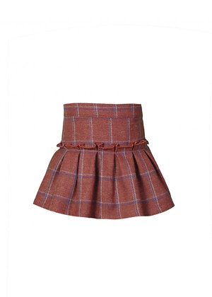 Eve - Ginger Check Skirt