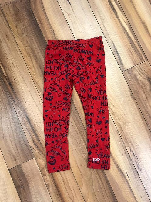 iDo Graphic Red Leggings