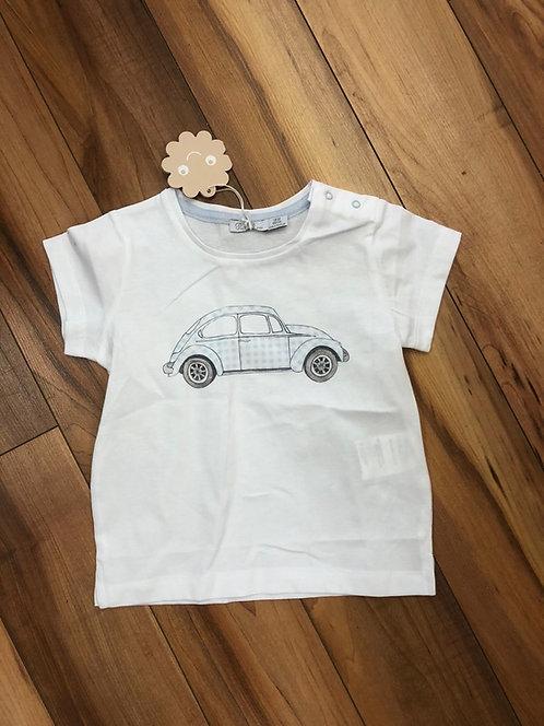 Patachou - White & Blue Beatle T-Shirt
