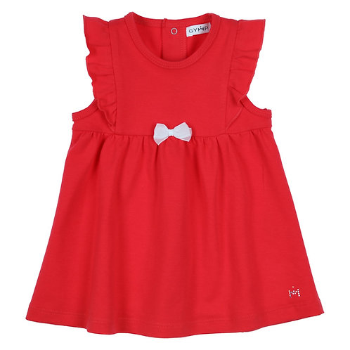 GYMP - Red Pinafore with Flounces