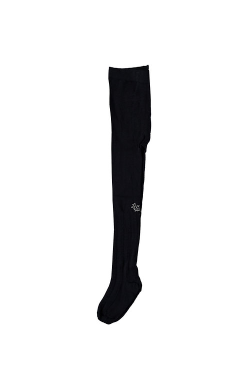 Le Chic - Rilee Cable Knit Navy Blue Tights