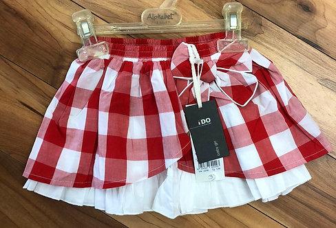 iDO - Red Check Skirt