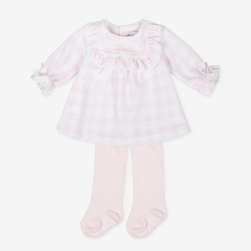 Tutto Piccolo P.Eridani - Printed Velvety Dress & Tights