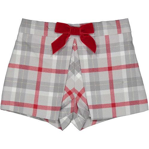 Birba - Grey & Red Check Shorts