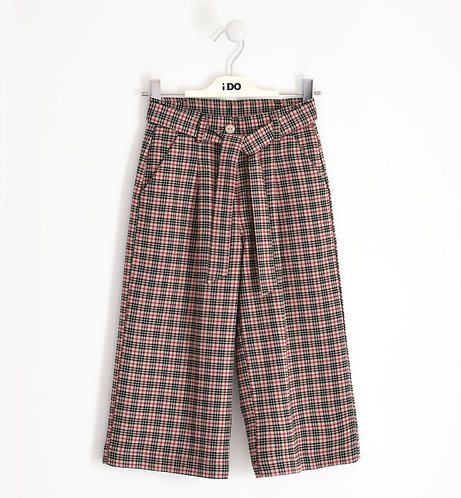 iDO - Cropped trousers in checked pattern tweed