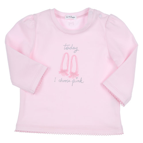 "GYMP -  Light Pink Long Sleeve ""SHOES I CHOOSE PINK"""