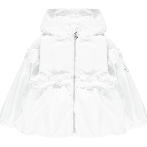 A Dee - Nino White Short Puffball Jacket