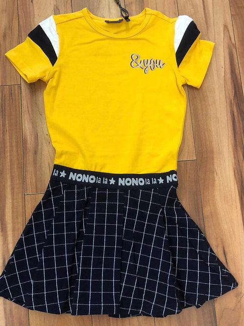NoNo Yellow & Navy Dress