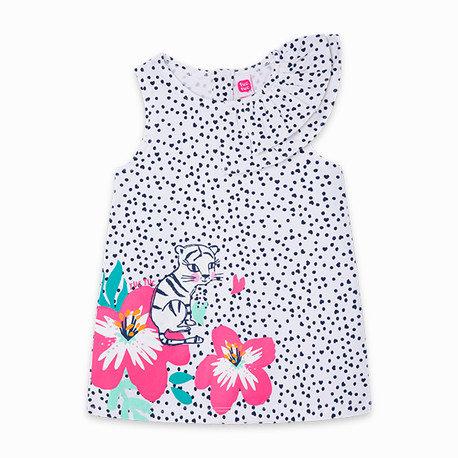 Tuc Tuc - White Printed Dress