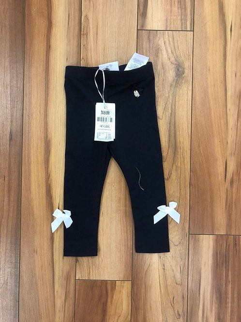 Le Chic Navy Leggings with Bows