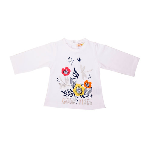 Babybol - White Flower T Shirt