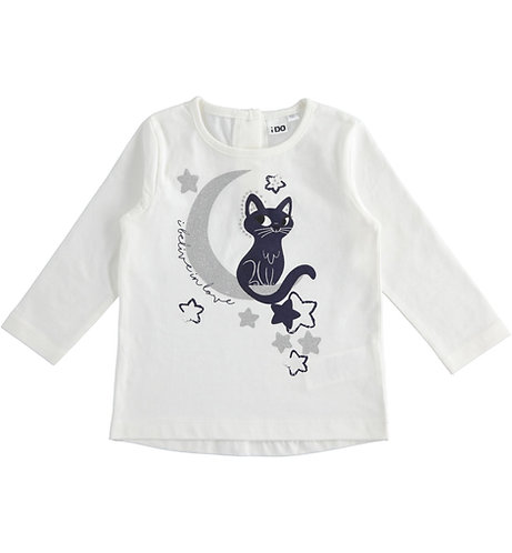 iDO - Cream Cat and Moon Sweater