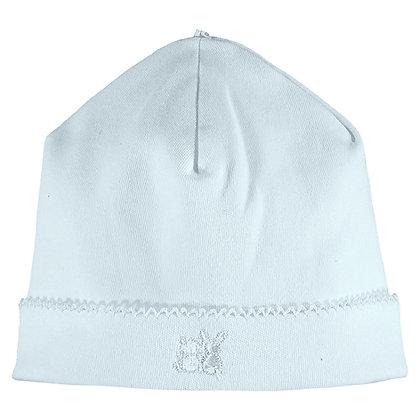 Genesis - Interlock pull on Hat with picot edge - Pale Blue