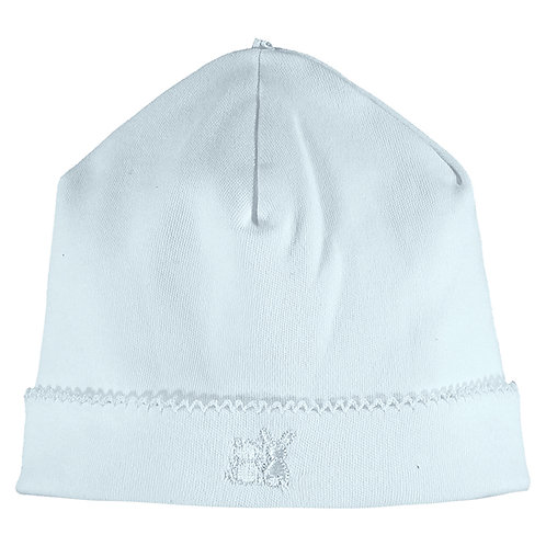Genesis - Interlock pull on Hat with picot edge - Pale Blue