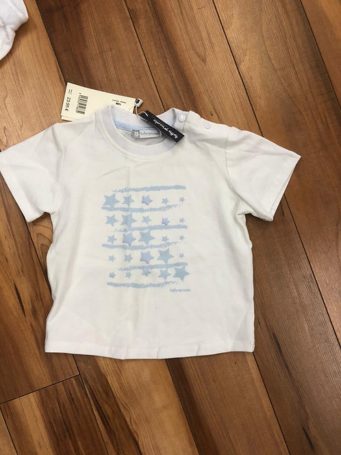 Tutto Piccolo - White Blue Star T-Shirt