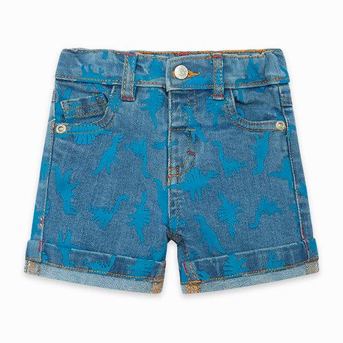 Tuc Tuc - Blue Dinosaur Denim Shorts