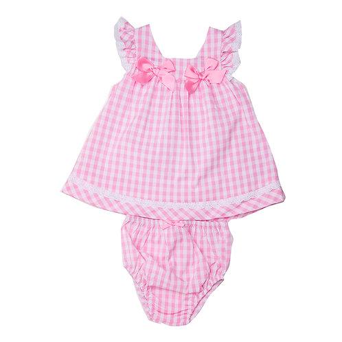Babybol - Pink Check Dress & Panties