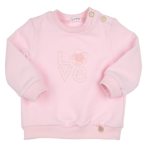 GYMP - Old Rose Sweater Love Embroidery