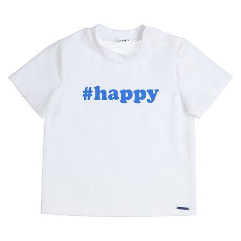 GYMP - White T-Shirt Blue Happy