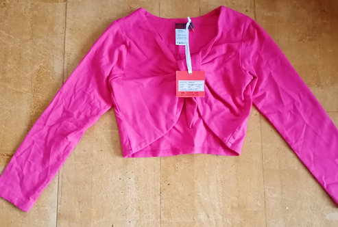 Lofff Dark Pink Bolero With Knot