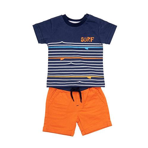 Babybol - T-Shirt & Orange Short Set