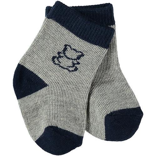 Alpine - 1 x twin pack boys Socks in navy & grey