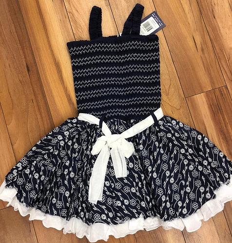 Lofff - Dark Blue & White Dress