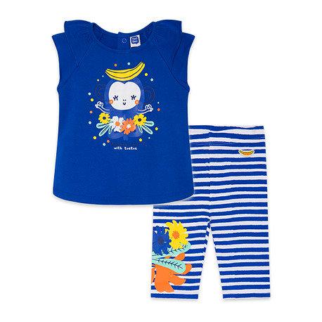 Tuc Tuc -Blue T-Shirt & Striped Leggings