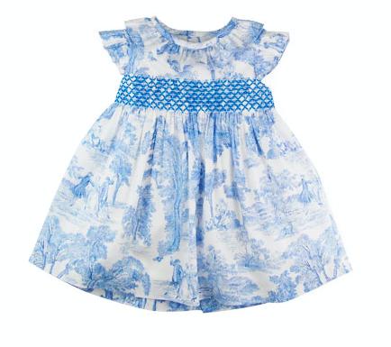 Sardon - Toile Blue Print Dress