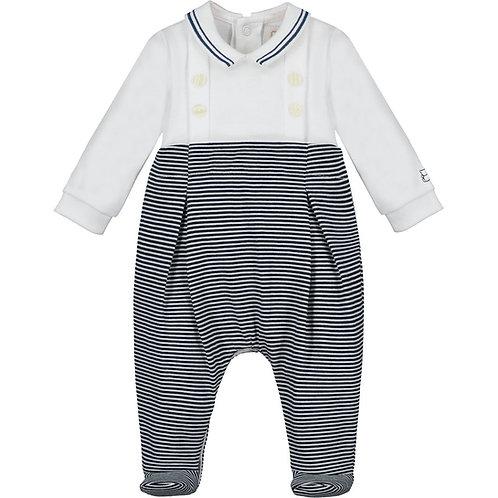 Alonso - Interlock AIO, with feet & jersey stripe lower