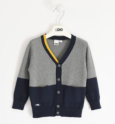 iDO - Grey and Navy Winter Cardigan