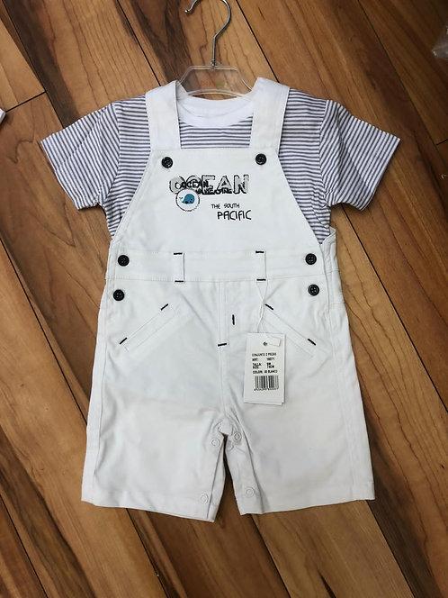 Babybol - White Dungarees