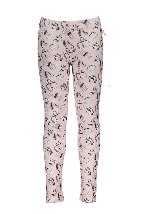 Le Chic - Pink Shoe Print Leggings