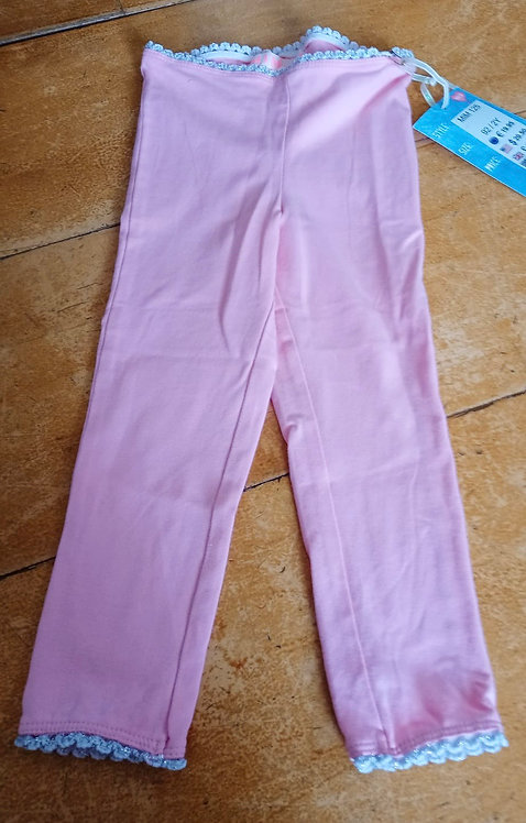 Mimpi Baby Pink Leggings with White Trim