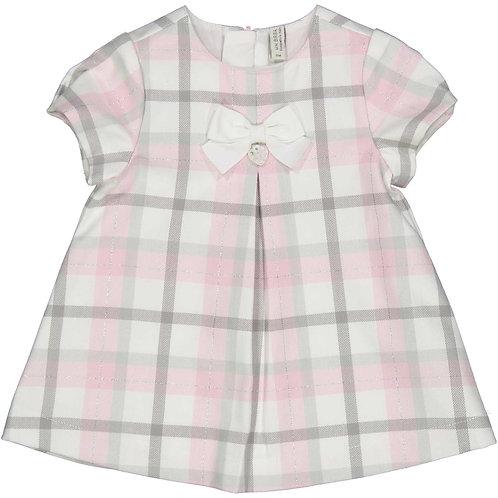 Birba -  Pink & Grey Check Dress