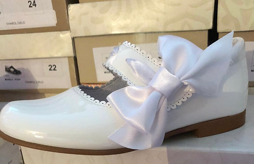 Leon Shoes -  White Patent