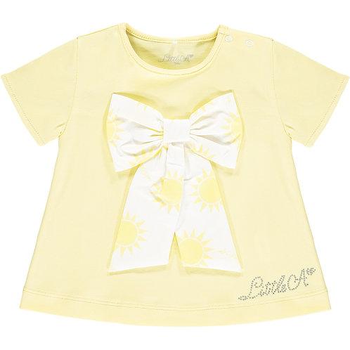 Little A - Kadence Sunshine Bow Lemon T-shirt