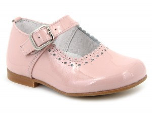 Leon Shoes -  Pink Patent Buckle