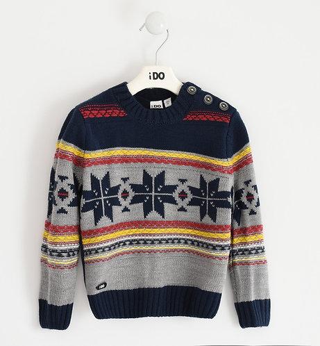 iDO - Boy sweater in Norwegian pattern