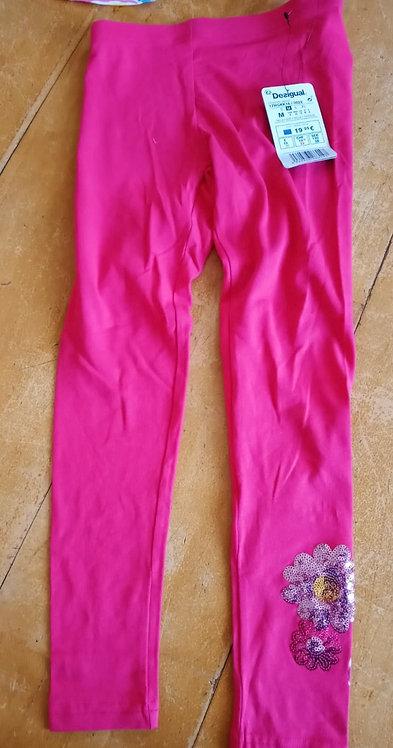 Desigual Pink Flower Leggings