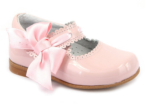 Leon Shoes -  Pink Bow Patent