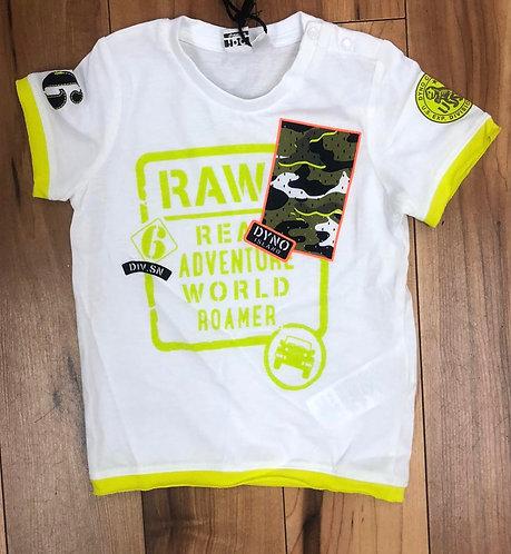 iDO White & Lime Green T-Shirt