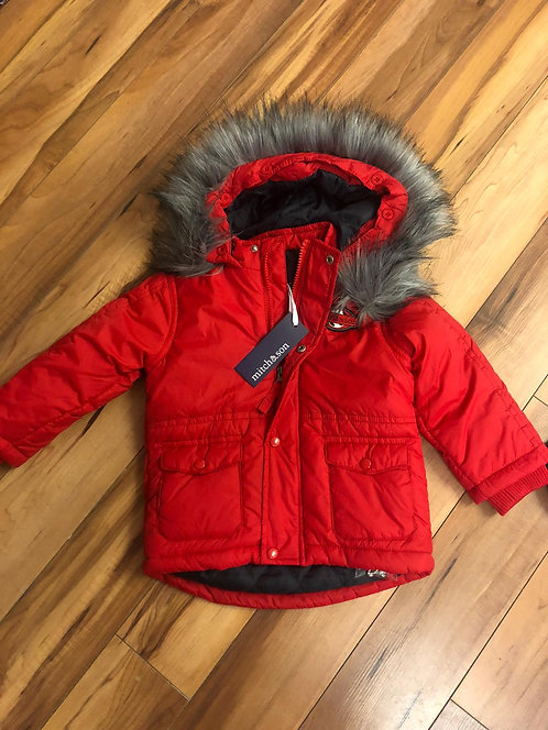 Mitch & Son - Red Coat with Fur Hood