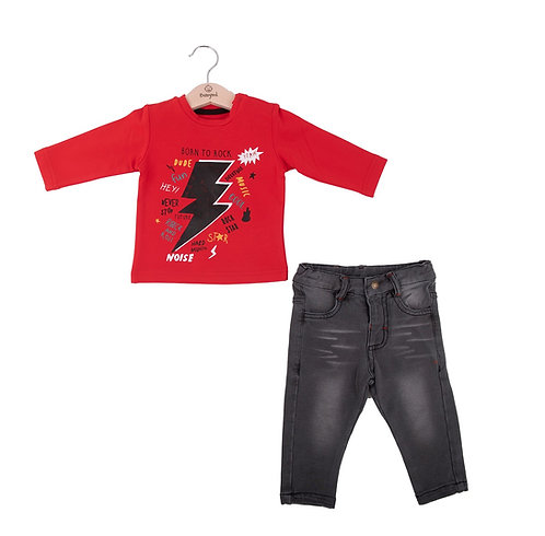 Babybol - Red Long Sleeve & Pants