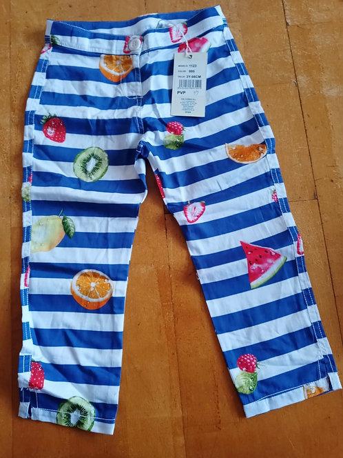 UBS2 - Blue Stripe Fruit Leggings