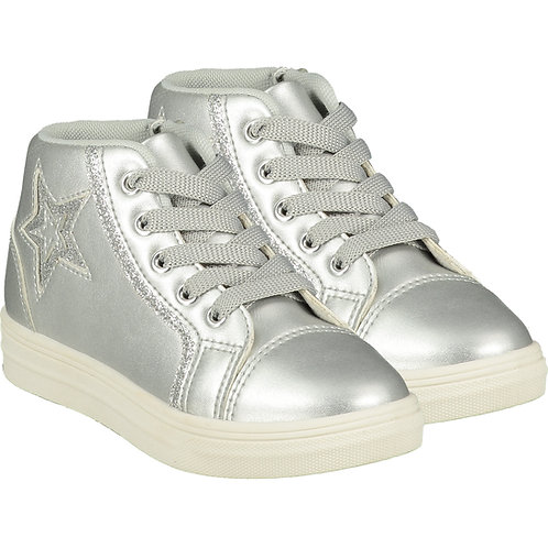 A Dee - Star Silver High Top Trainer