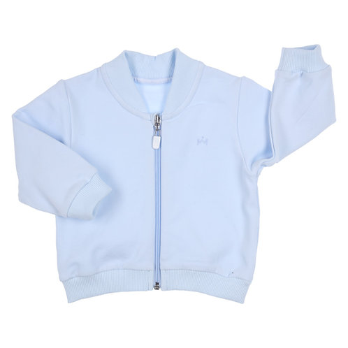 GYMP CARBONDOUX - Light Blue Bomber Jacket