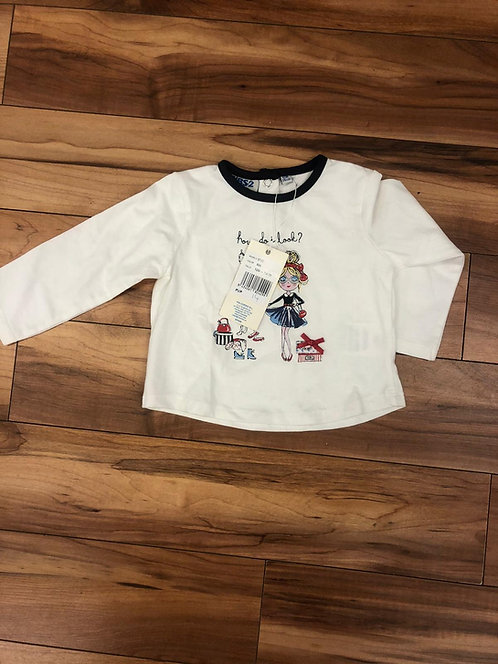 UBS2 - White Long Sleeve Top