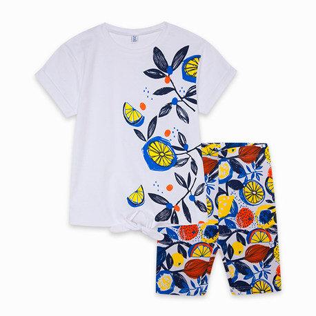 Tuc Tuc - White Printed T-Shirt and Leggings